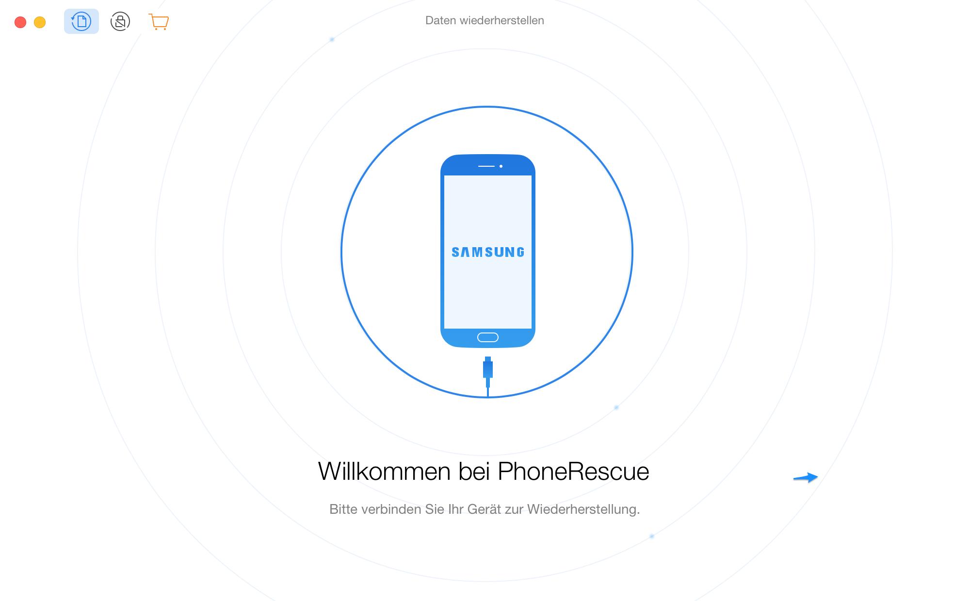 Willkommen bei PhoneRescue für Samsung