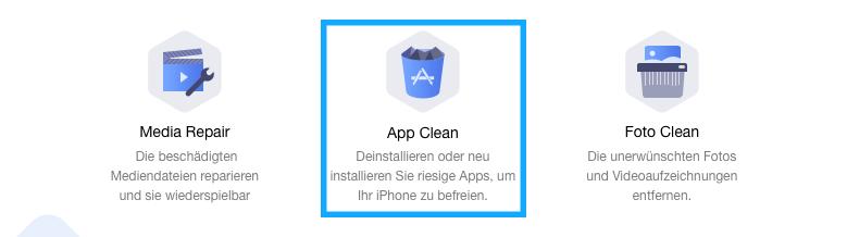 App Clean auswählen