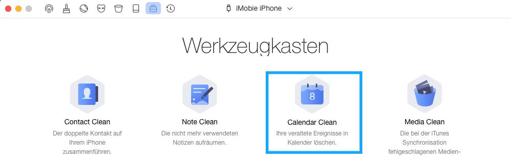Calendar Clean auswählen
