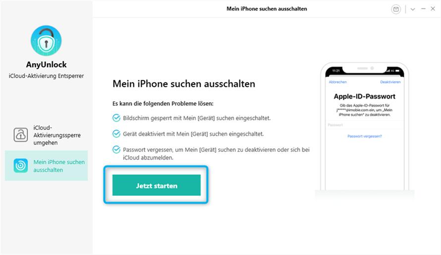 So kann man Mein iPhone/iPad suchen deaktivieren – Schritt 2