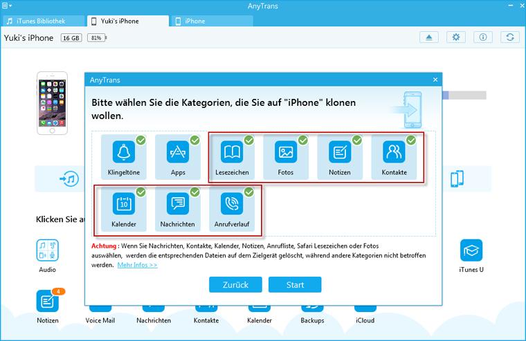 Überschriebene Dateitypen  beim  Klon - Windows