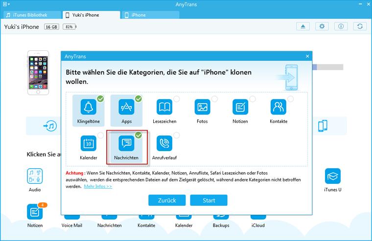Beim Überschreiben der Dateien - Windows
