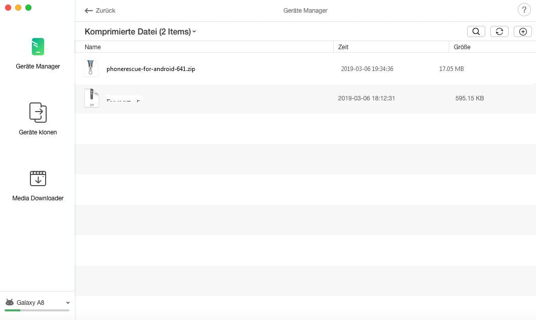 Zip-Dateien verwalten – Daten auswählen