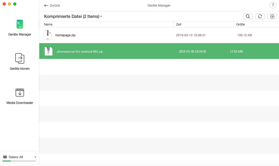 Zip-Dateien verwalten – Daten übertragen