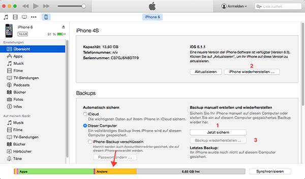 Ihr iPhone und iPad wiederherstellen