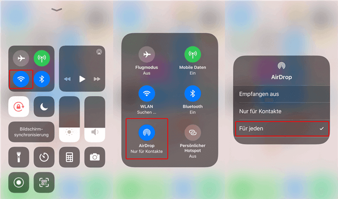 AirDrop am iPhone aktivieren