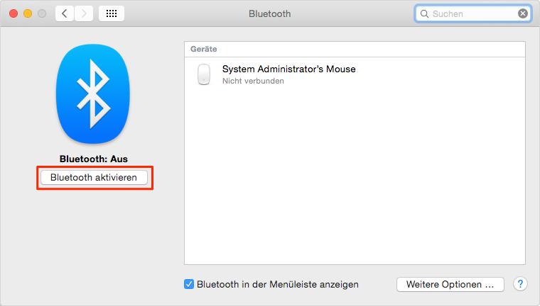 MacBook Pro Akkulaufzeit verlängern: Bluetooth ausschalten