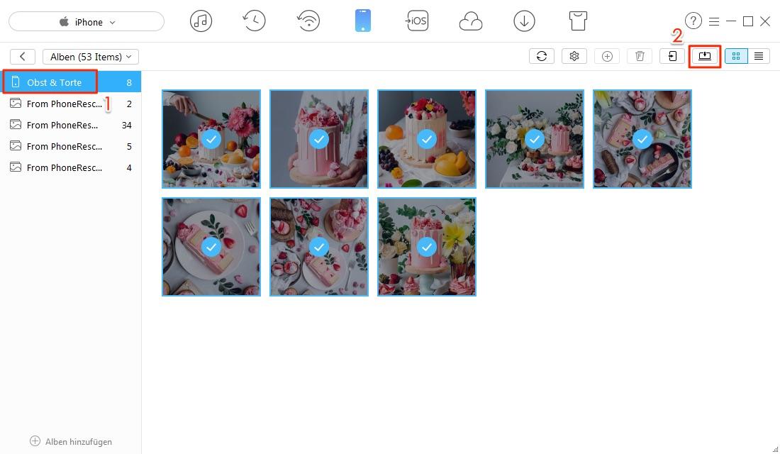 iPhone Fotoalbum auf PC übertragen – Schritt 4
