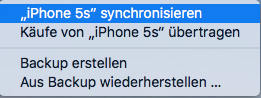 iPhone mit iTunes synchronisieren