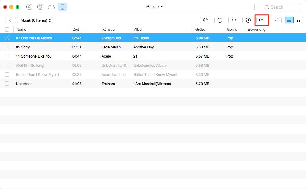 Teilweise Daten vom iPhone selektiv sichern