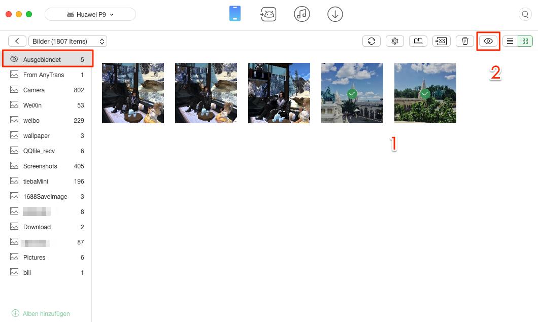 Android Bilder & Fotos einfach einblenden