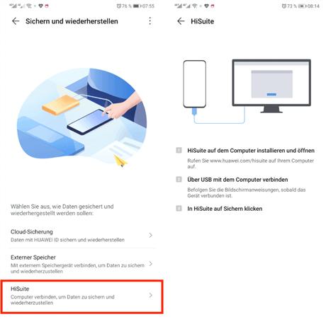 android-daten-sichern-herstellertools-schritt-zwei
