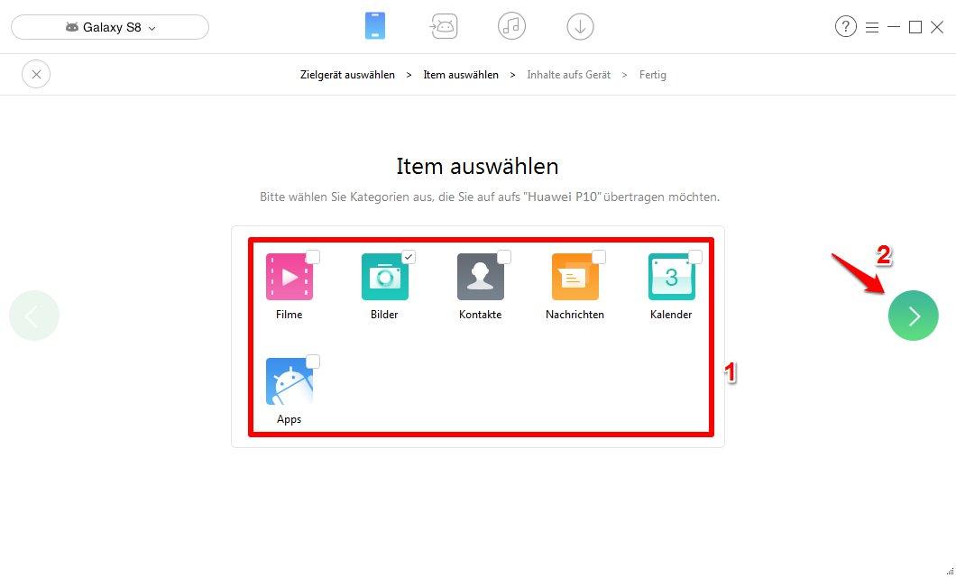 Android Daten auf neues Handy übertragen - Schritt 3