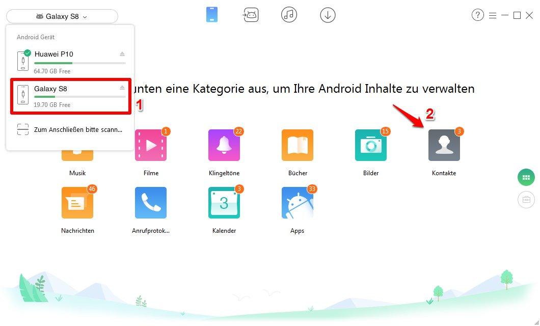 Daten auf neues Handy übertragen Android - Schritt 2