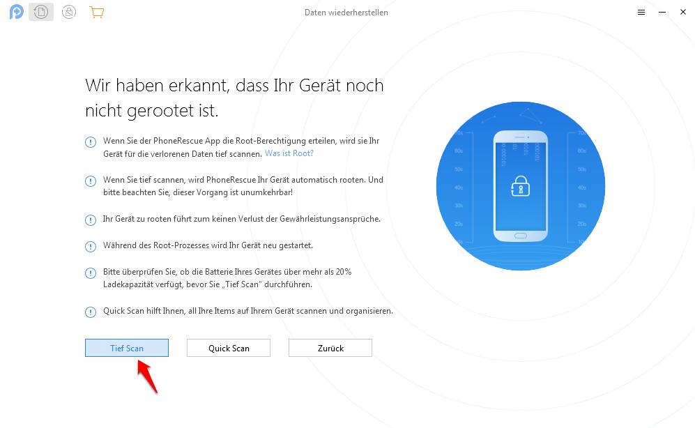 Android Daten wiederherstellen nach Werkeinstellung – mit PhoneRescue