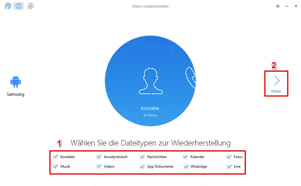 Android Daten effizient wiederherstellen nach Werkeinstellung – mit PhoneRescue