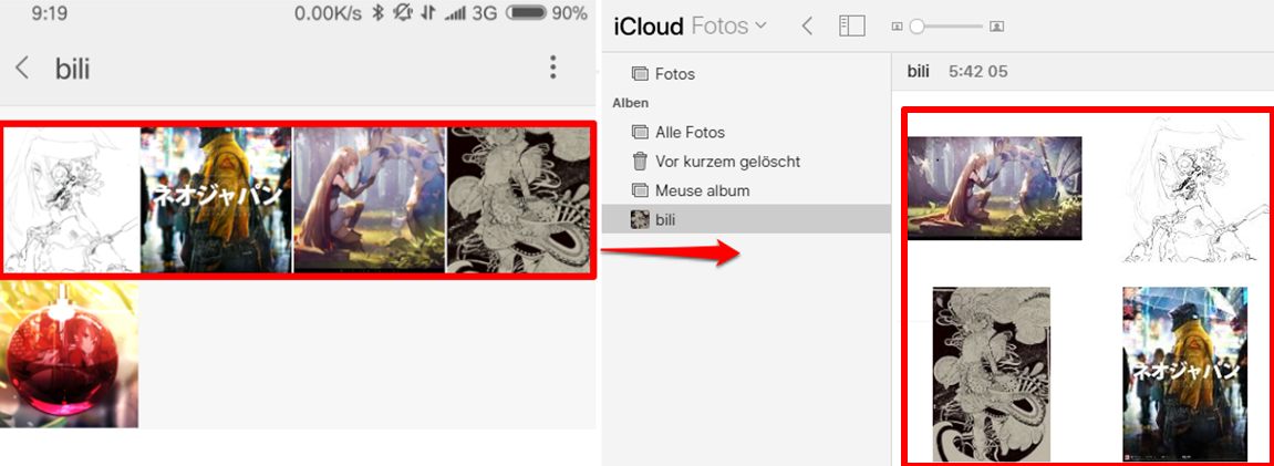 Android iCloud Fotos synchronisieren