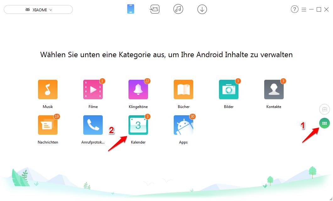 Android Kalender löschen - Schritt 2