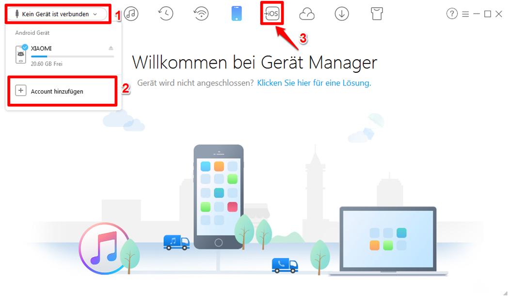 Android Kalender mit iCloud synchronisieren – Schritt 2