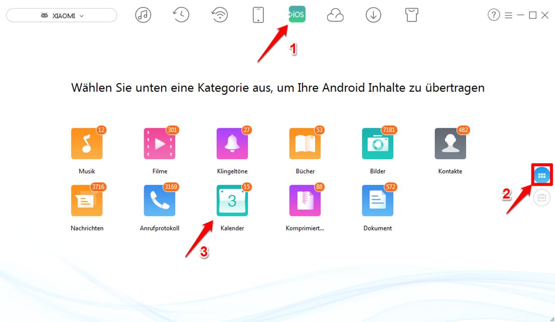 Android iCloud Kalender sync – Schritt 3