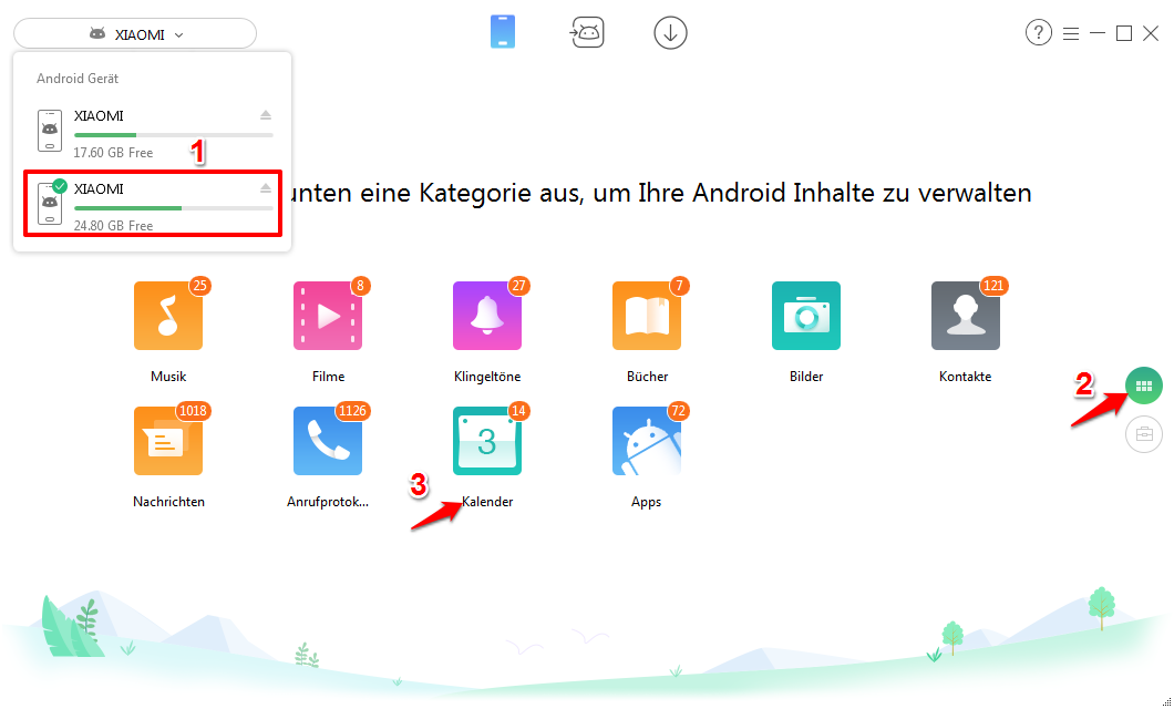 Android Kalender synchronisieren – Schritt 1