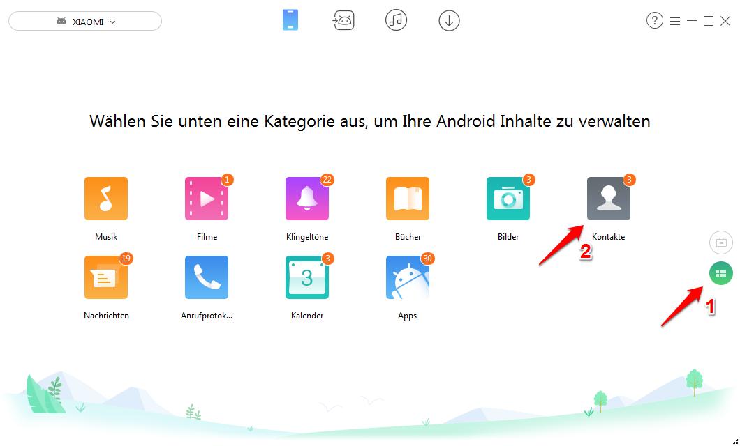 Android Kontakte löschen - Schritt 2