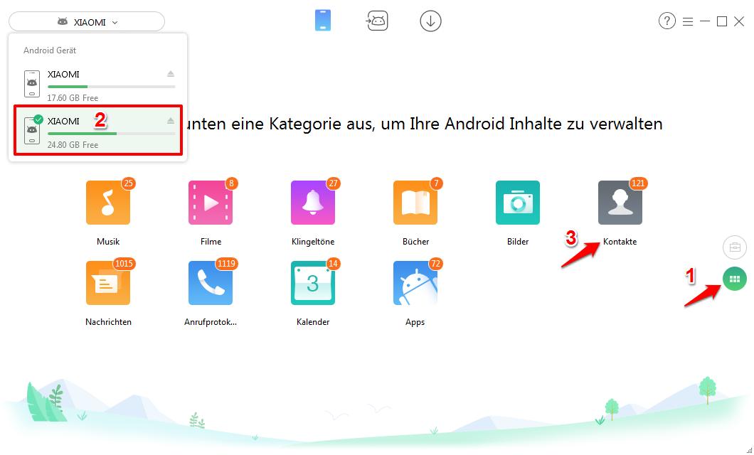 Android Kontakte synchronisieren – Schritt 1