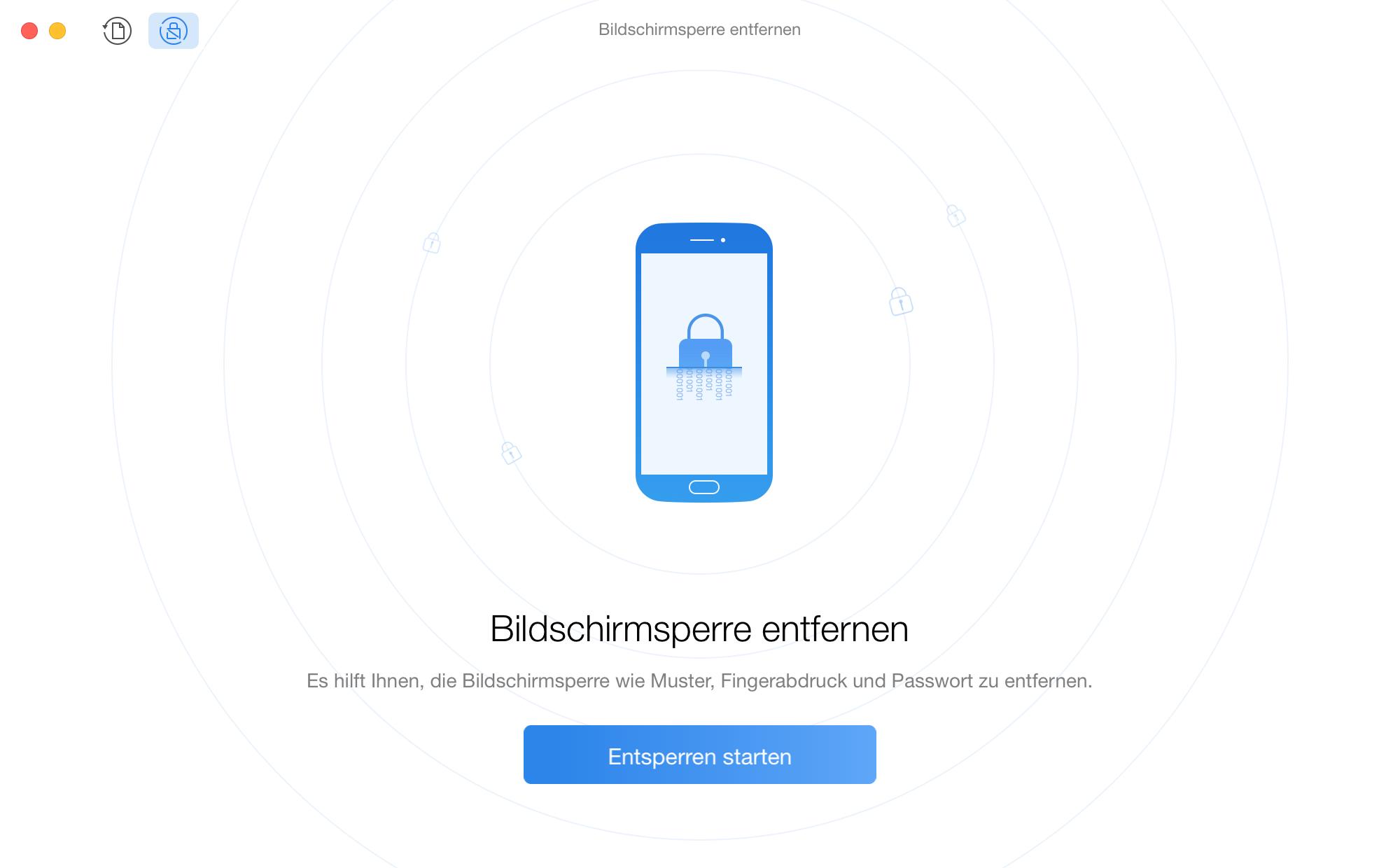 Android Passwort vergessen - Schritt 2