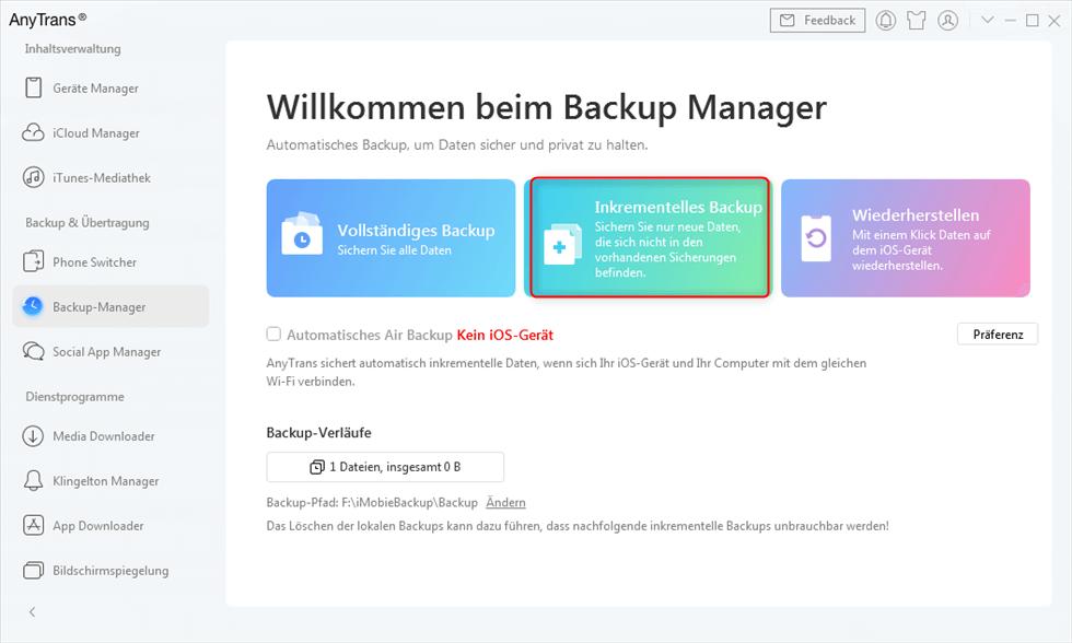 anytrans-inkrementelles-backup