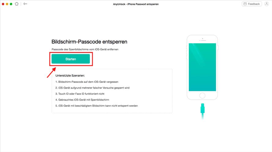 anyunlock-bildschirm-passwort-starten