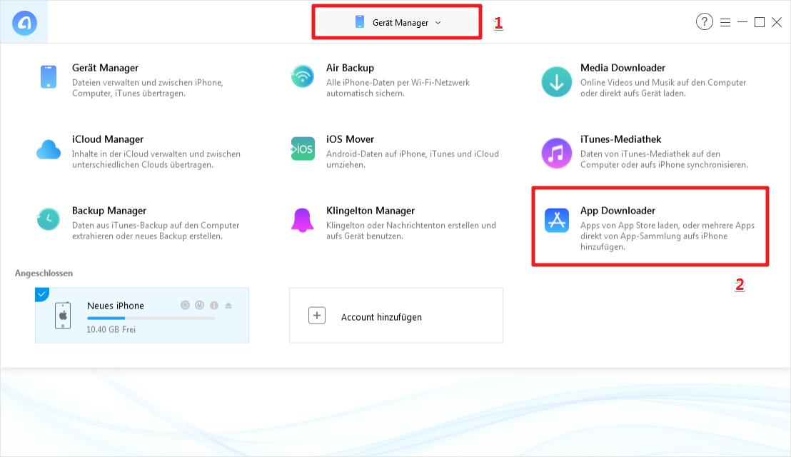App ältere Version installieren - Schritt 1