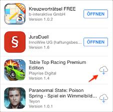 Gelöschte Apps im App-Store suchen und installieren