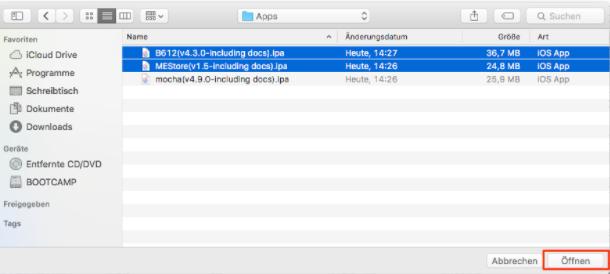 Apps auf iPod übertragen – Schritt 2