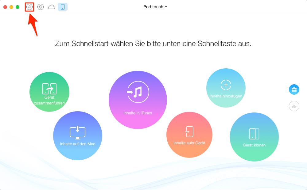 Apps von iTunes auf iPod touch – Schritt 1
