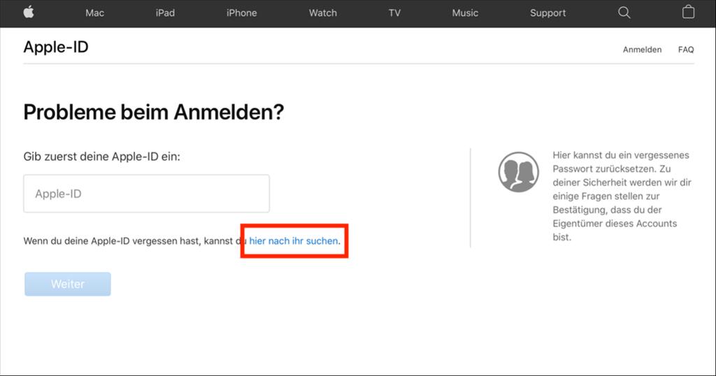 apple-id-finden