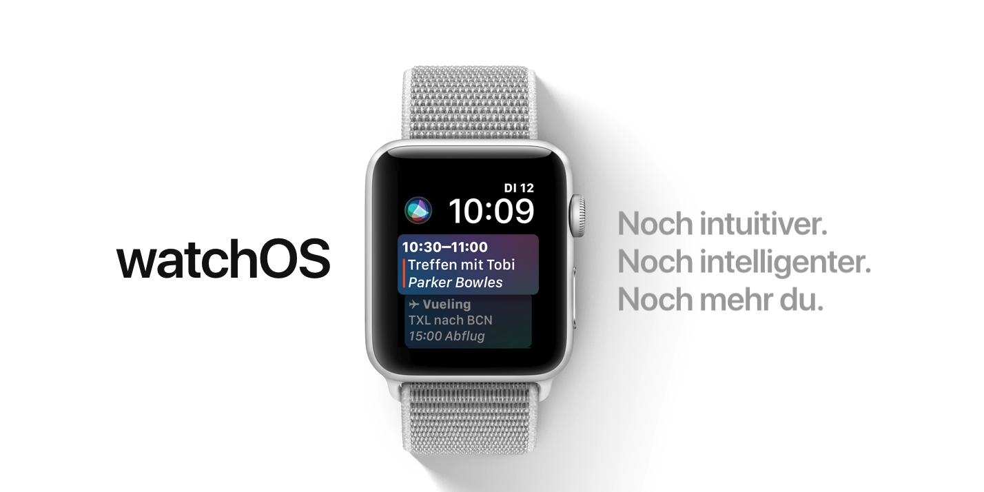 watchOS 4 – Bild aus Apple.de