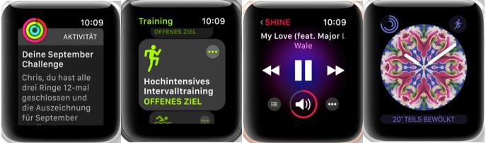 Neuerungen von watchOS 4