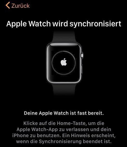 App synchronisieren – Schritt 8