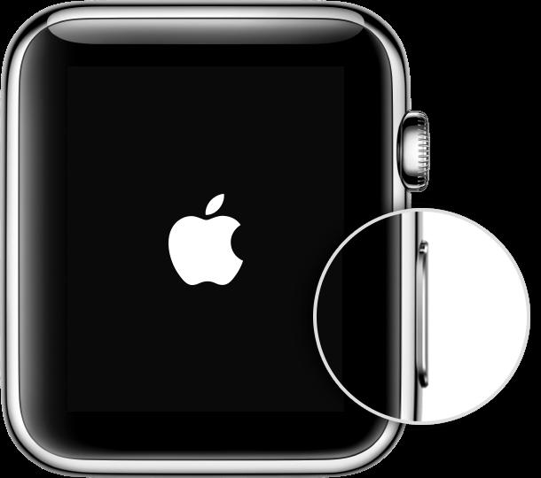 Apple Watch einschalten – Schritt 1
