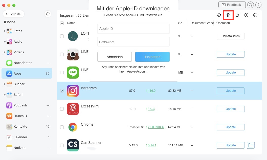 apps-in-anytrans-aktualisieren
