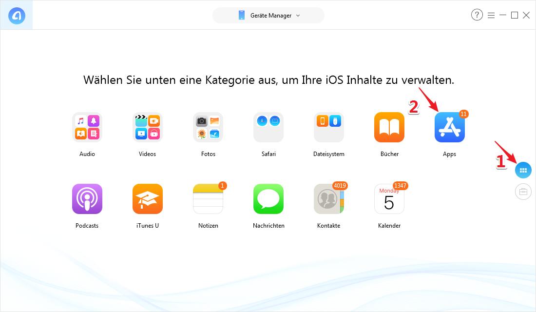 iPhone Apps verschieben funktioniert nicht – Schritt 2