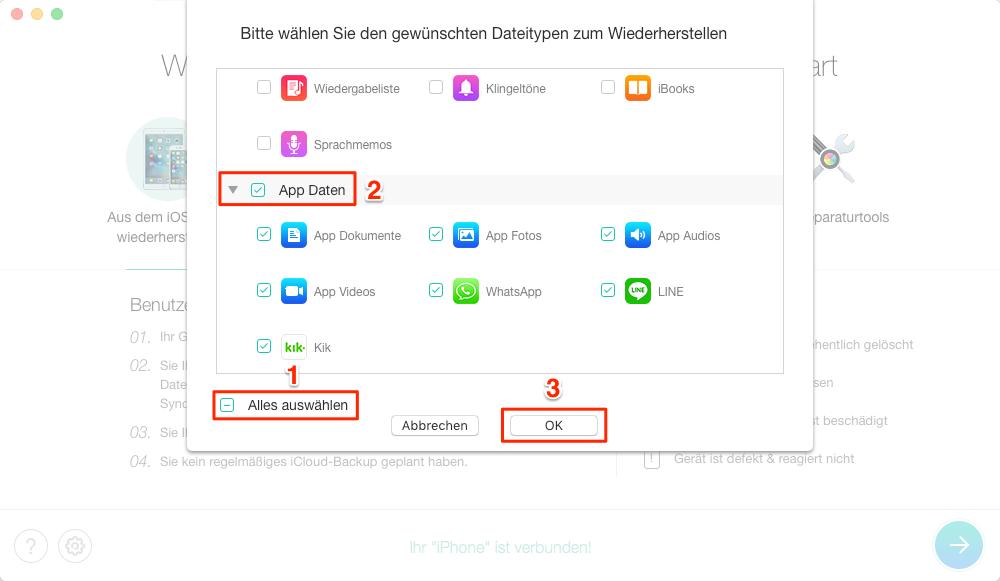iOS 11 Apps verschwunden, was tun – Schritt 2
