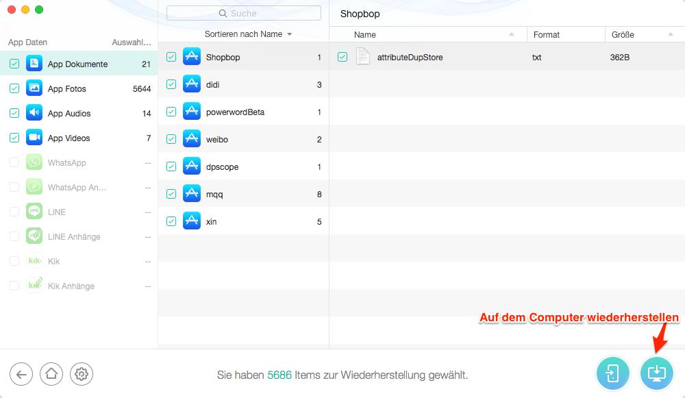iOS Apps verschwunden – Schritt 3