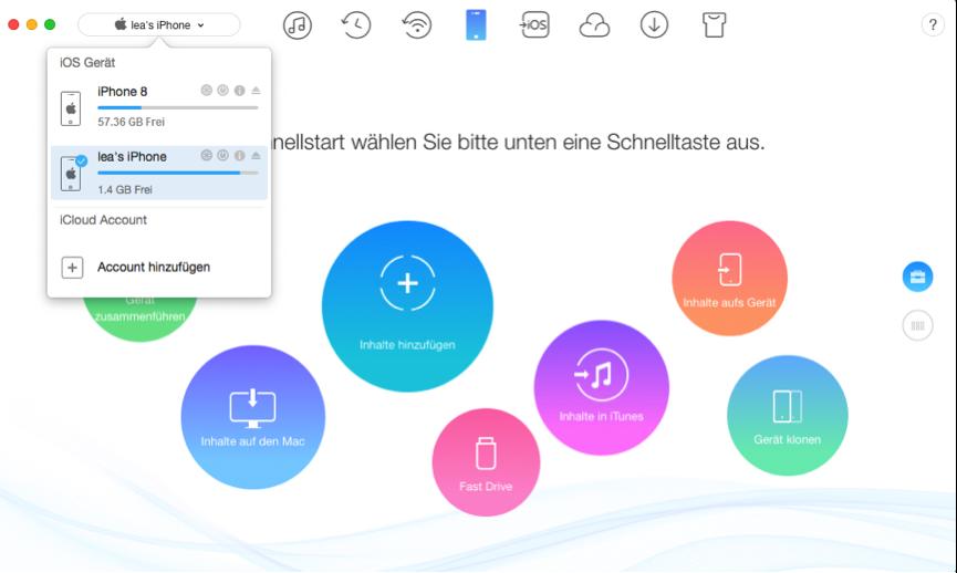 App zwischen zwei iPhones übertragen – Schritt 1