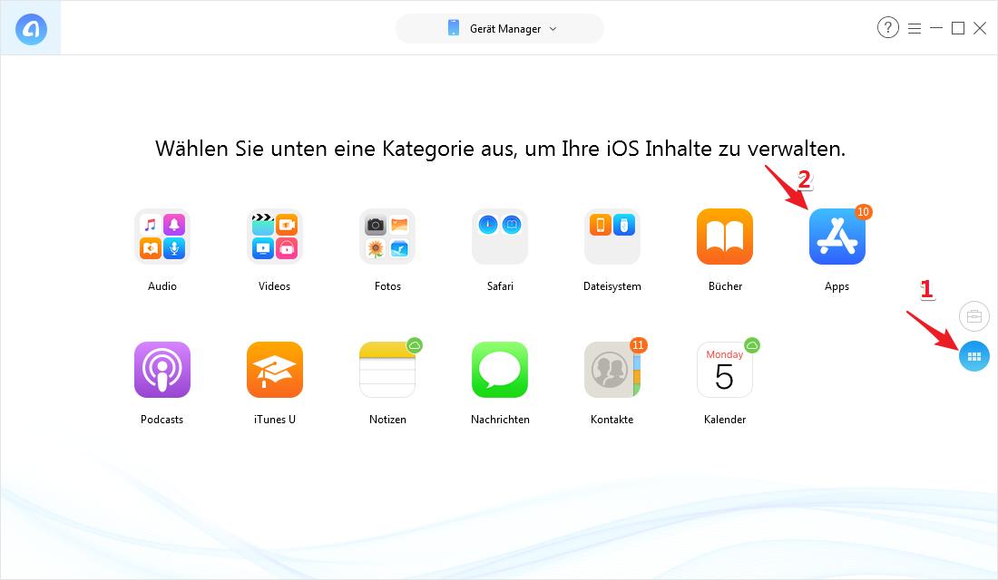 iPhone Apps auf Anderes übertragen