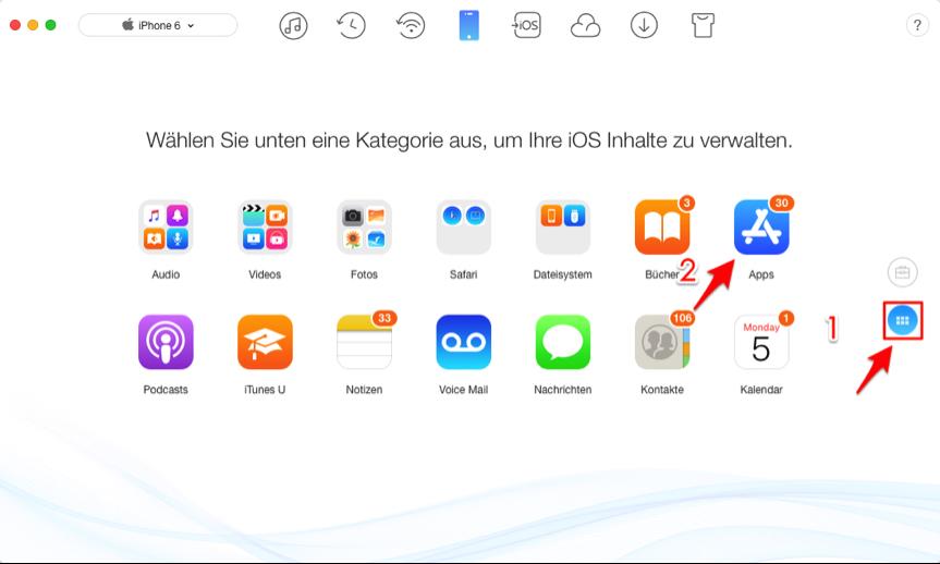 Apps von iPhone auf iPad synchronisieren – Schritt 2