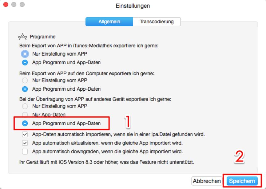 Apps vom iPhone auf iPad – Schritt 3