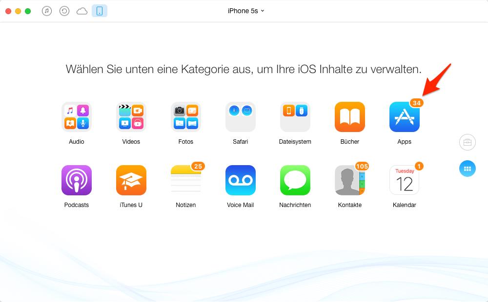 Apps vom iPhone auf iPad, ohne iTunes – Schritt 3