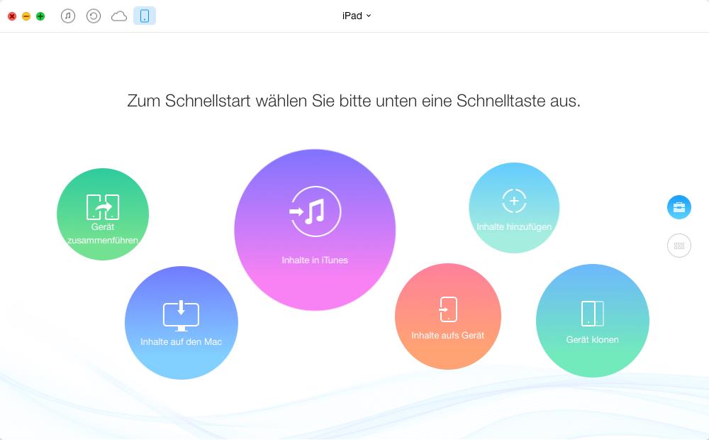 Apps vom iPad auf Mac mit AnyTrans – Schritt 2