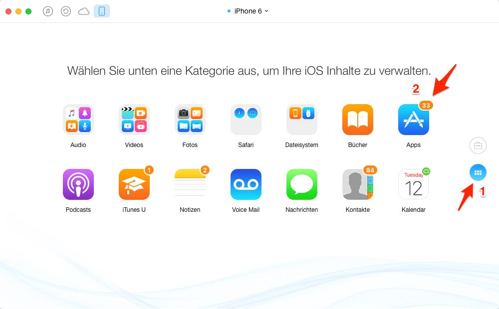 Apps vom iPhone auf iPad direkt senden – Schritt 2